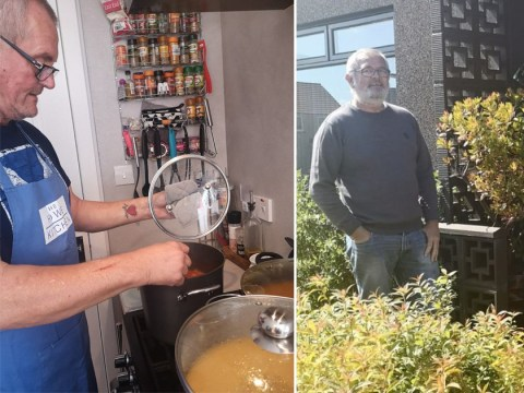 Pensioner makes hundreds of bowls of soup for elderly people in his village