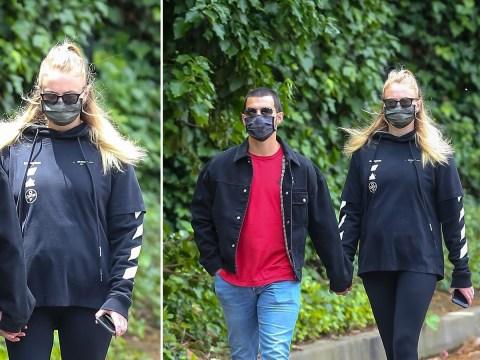 Sophie Turner and Joe Jonas make even lockdown look cool in matching masks amid 'pregnancy' rumours
