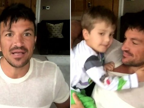 Peter Andre and Emily's son Theo seen for first time as he invades dad's Loose Women interview