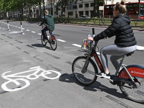 Road turns into giant cycle lane to make social distancing easier