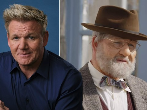 Gordon Ramsay gives fans first look at wild transformation using prosthetics to turn him into elderly historian