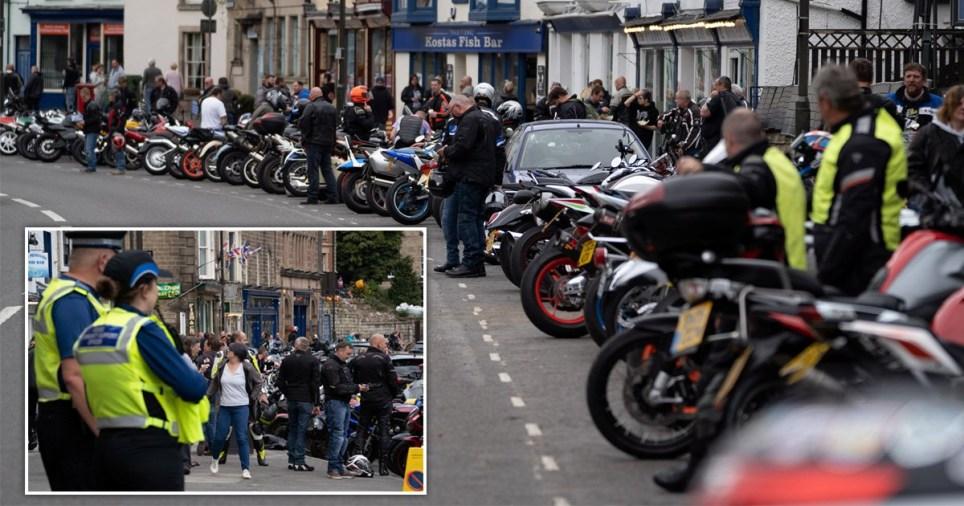 bikers flood village lockdown