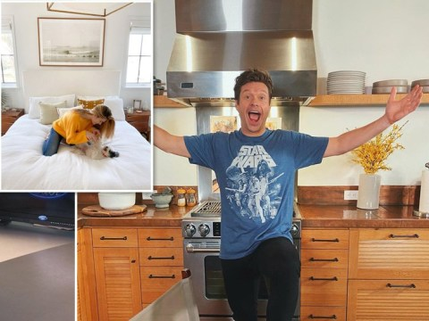 Inside Ryan Seacrest's spacious Los Angeles home where he's broadcasting live during quarantine
