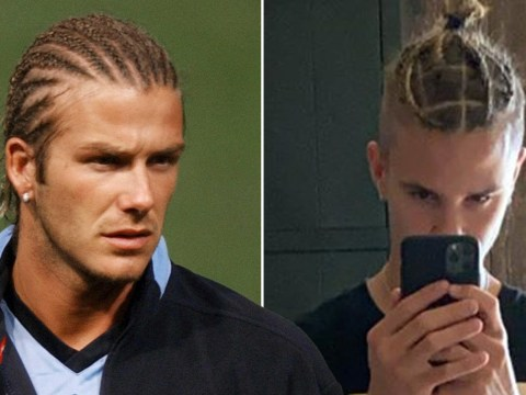Romeo Beckham is dad David's doppelganger as he debuts braided hairstyle that we have definitely seen before