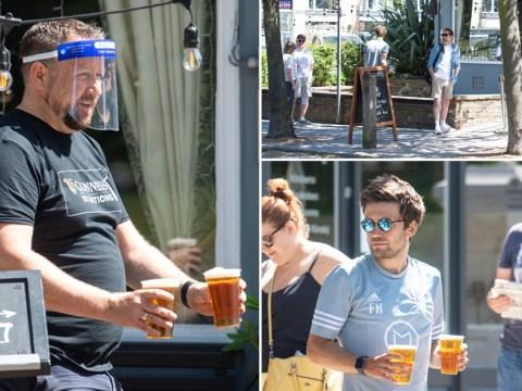 Pub landlords find way around lockdown as Brits drink takeaway pints al fresco