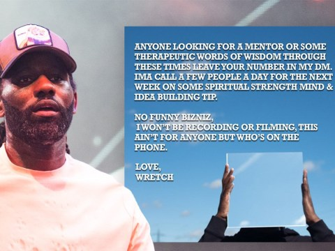 Wretch 32 makes enormously kind gesture as he offers to call fans to provide 'therapeutic words of wisdom'