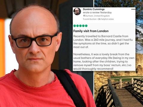 'Dominic Cummings' leaves review on Barnard Castle Tripadvisor