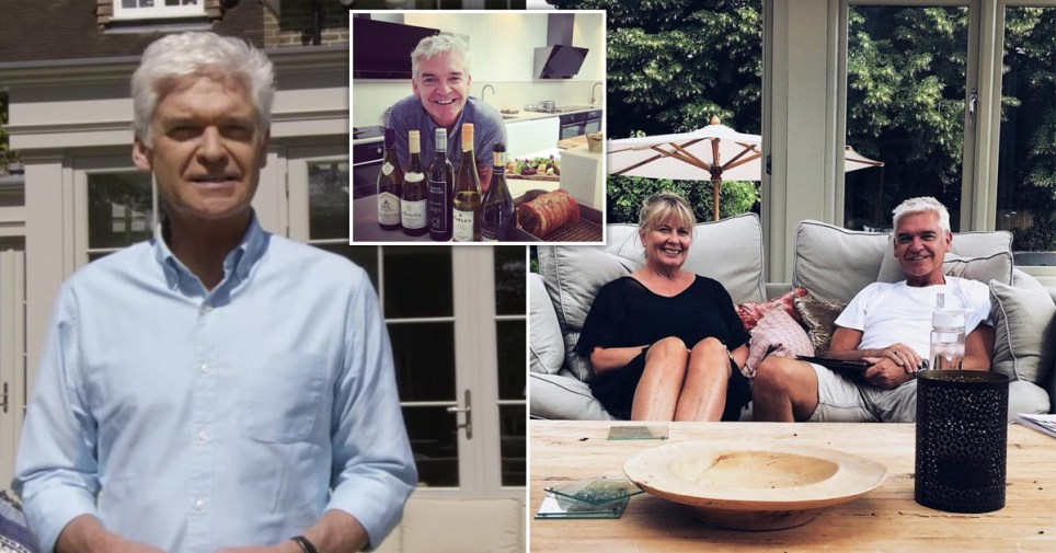 Phillip Schofield pictured within his Oxfordshire home