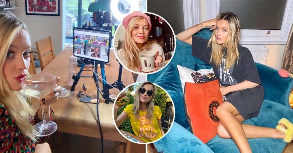 Laura Whitmore pictured in different rooms of her North London home