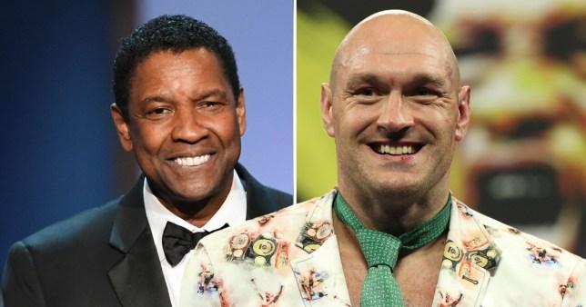 Tyson Fury and Denzel Washington pictured separately
