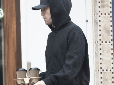 Robert Pattinson is just as low-key as the Batman in casual black outfit on coffee run in London