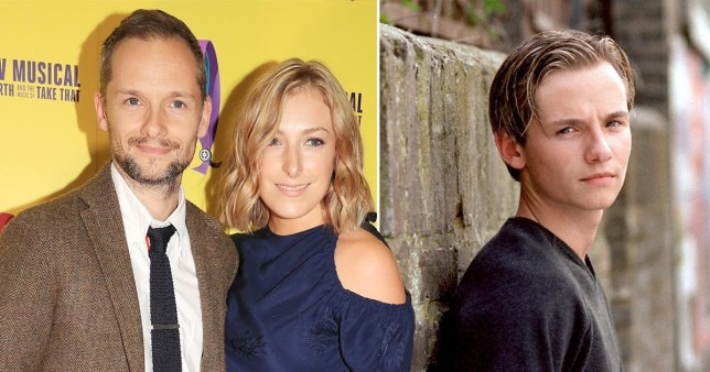 Jack Ryder pictured with girlfriend Ella alongside photo of him in character as Jamie Mitchell on EastEnders