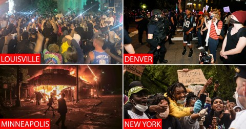 Rioting in Louisville, New York and Denver over George Floyd's ...