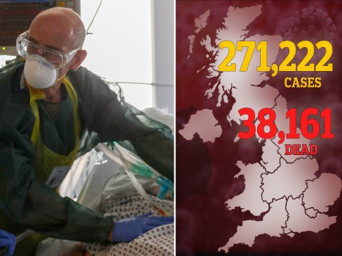 Official UK death toll rises to 38,161 after another 324 die