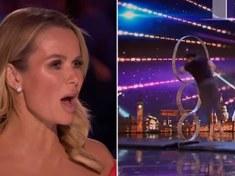 Britain's Got Talent first-look: Amanda Holden looks on in shock after dangerous act involving David Walliams: 'Oh my god'