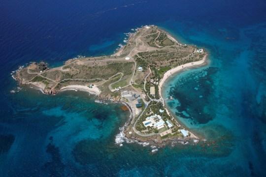 FILE PHOTO: Little St. James Island, one of the properties of financier Jeffrey Epstein, is seen in an aerial view near Charlotte Amalie, St. Thomas, U.S. Virgin Islands July 21, 2019. REUTERS/Marco Bello/File Photo
