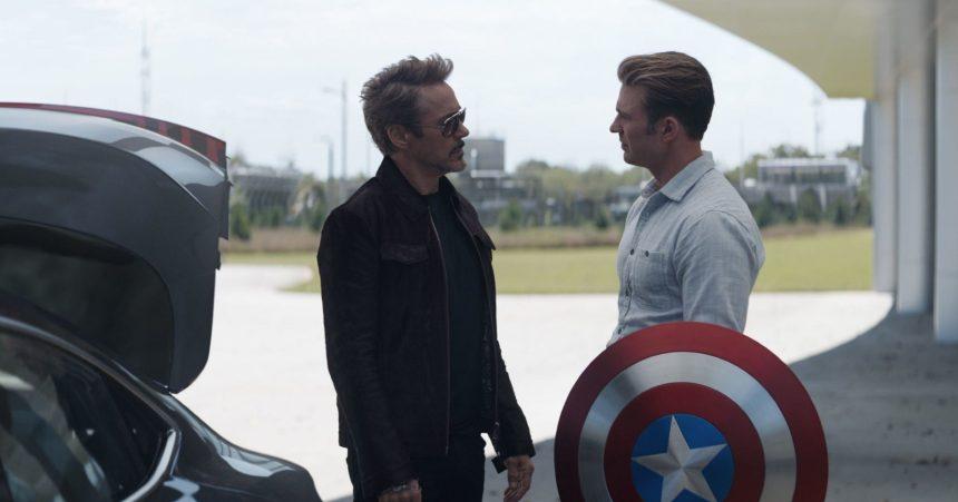 Robert Downey Jr and Chris Evans in Avengers