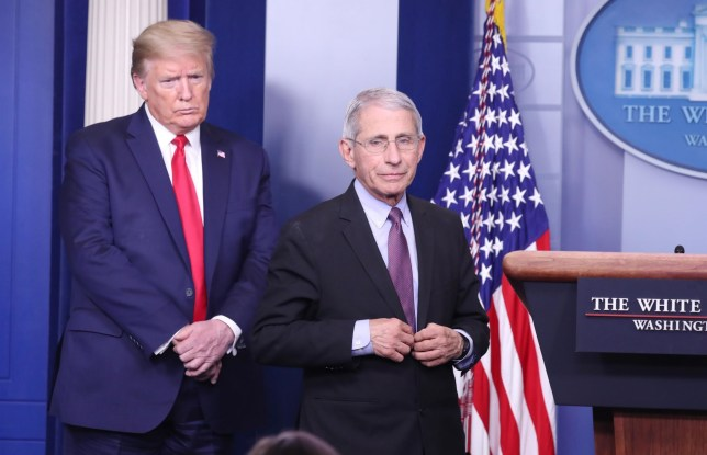 PHOTO OF DR FAUCI AND PRESIDENT TRUMP