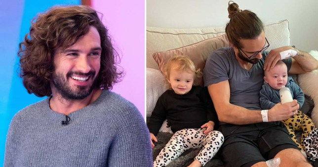 Joe Wicks reunites with family after hospital stint (Picture: Rex, @thebodycoach)