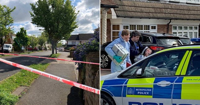 A police scene in Kerry Drive, Upminster, East London, where an 11-year-old boy was shot on Friday evening, suffering possibly life-changing injuries. PA Photo. Picture date: Saturday May 2, 2020. Officers also found a man believed to be in his 40s who had suffered cuts to his head. Both were taken to hospital, with the boy's condition listed as not life-threatening but possibly life-changing. See PA story POLICE Upminster. Photo credit should read: Tom Pilgrim/PA Wire
