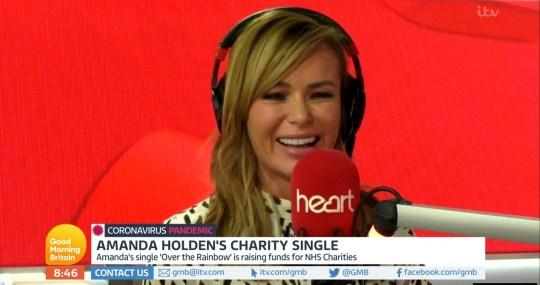 Amanda Holden on Good Morning Britain