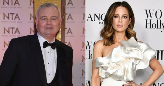 Kate Beckinsale does her stretches to the sound of Eamonn Holmes and OK then