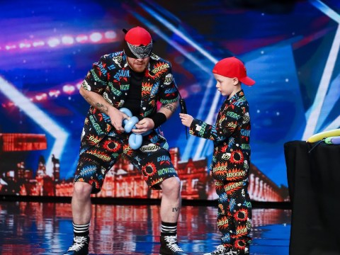 Britain's Got Talent act attempts to break Guinness World Record for making balloon animals while blindfolded