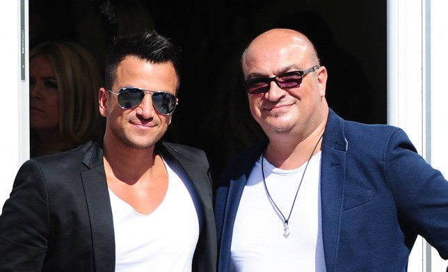 Peter Andre and his brother Andrew attend the opening of Amy's new boutique in Brentwood, Essex.