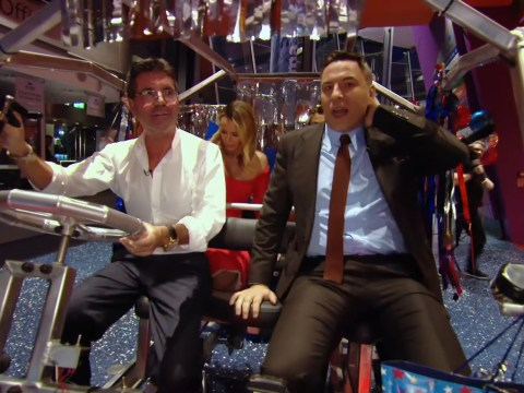 David Walliams jokes he'll sue Simon Cowell for $1billion after he crashes buggy on BGT set
