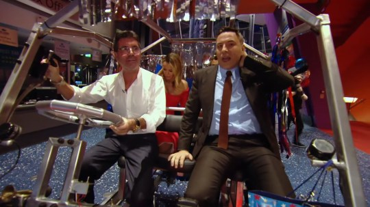 Picture: ITV David Walliams jokes he'll sue Simon Cowell for 'whiplash' after he crashes on BGT set