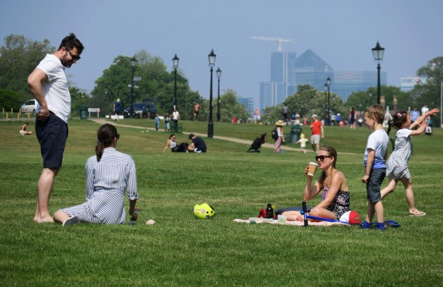 People relaxing in parks during the lockdown
