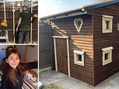 Dad builds a playhouse for his kids in just six days so they can enjoy lockdown in style