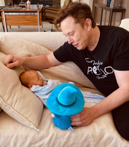Elon Musk and baby