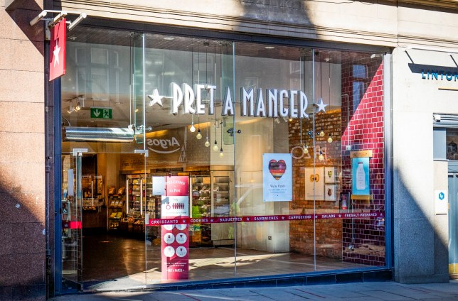 Pret A Manger coffee shop on North Bridge in Edinburgh