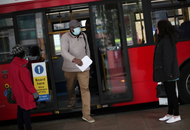 A man wearing a face mask in london