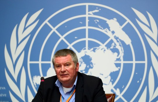 Mike Ryan, Executive Director of the World Health Organisation (WHO), attends a news conference  at the United Nations in Geneva, Switzerland (Picture: Reuters)