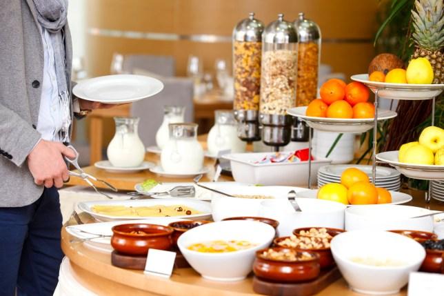 a Breakfast buffet