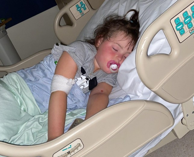 Picture of Tayah Fernandes, 4, in hospital