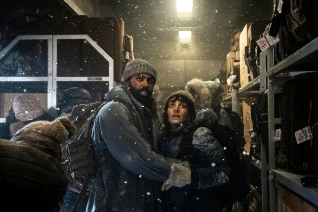 Daveed Diggs and Sheila Vand on TV show snowpiercer
