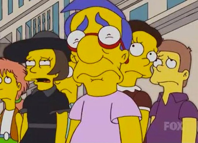 Milhouse's expression in The Simpsons episode is based on US propaganda film