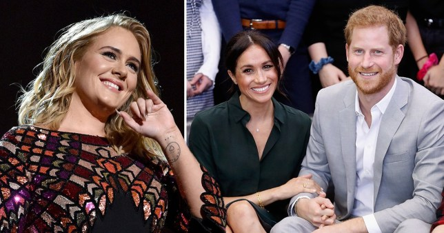 Adele advising Harry and Meghan on life in LA (Picture: Getty)