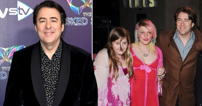Jonathan Ross pictured with daughters Betty and Honey