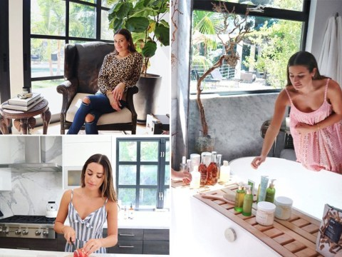Inside Lea Michele's Los Angeles home where she is self-isolating  with husband Zandy Reich while pregnant