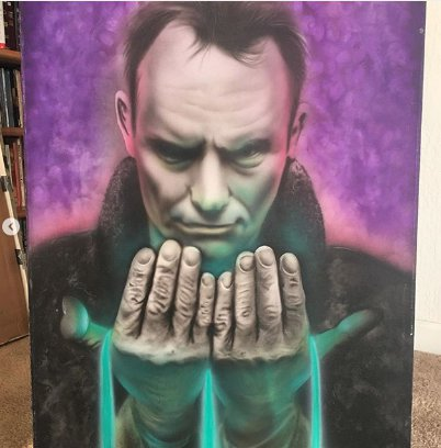 The painting of Sting