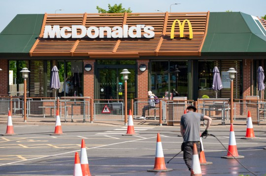 McDonald's in Peterborough, Cambridgeshire, reopened todayy, May 20