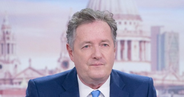 Picture of presenter Piers Morgan on Good Morning Britain