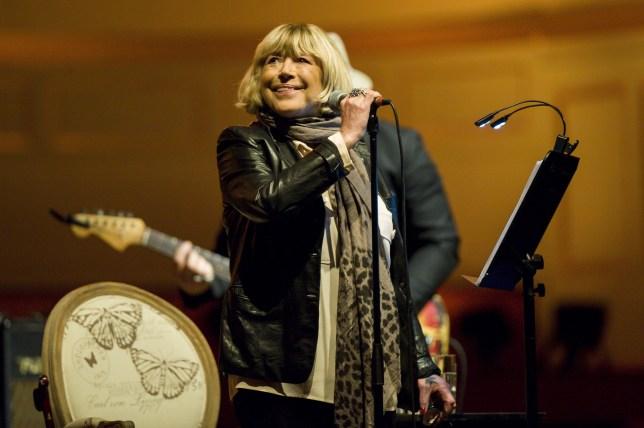 Marianne Faithfull performing in concert inHamburg, Germany