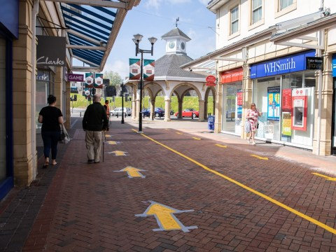Shopping centre in Wales installs one-way system for pedestrians