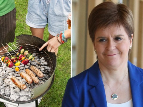Scots could be able to host small barbecues in their gardens by next weekend