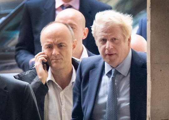 FILE IMAGE ? Licensed to London News Pictures. 25/09/2019. London, UK. Prime Minister Boris Johnson arrives Parliament in Westminster with his special advisor Dominic Cummings after The Supreme Court in London yesterday ruled that Parliament had been suspended illegally. British Prime Minster Boris Johnson prorogued parliament just weeks before the UK is due to leave the EU on October 31st. Photo credit: Peter Macdiarmid/LNP